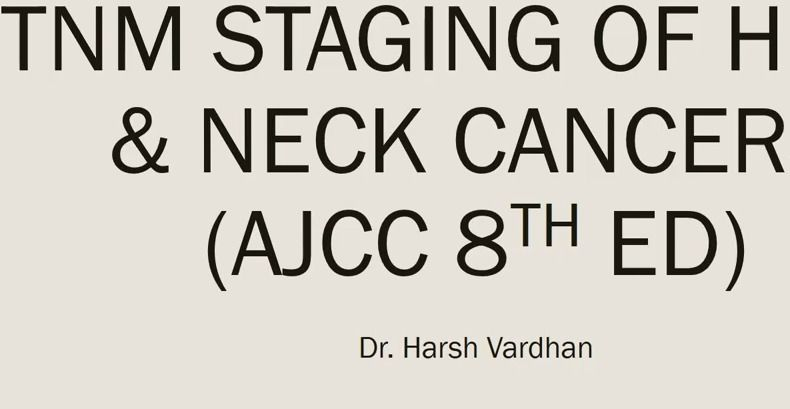 Tnm Staging For Head Neck 8th Edition Ajcc Youtube Cancer Stages Staging Head And Neck