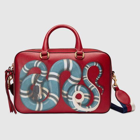 9b422ac6fbad0b GUCCI Snake Print Leather Top Handle Bag. #gucci #bags #shoulder bags #hand  bags #leather #