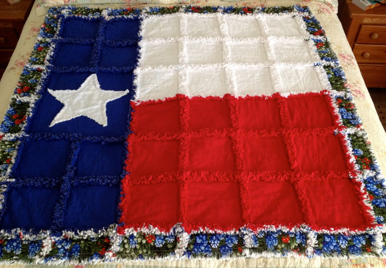 Texas Star Rag Quilt By Zeedlebeez On Etsy 175 00