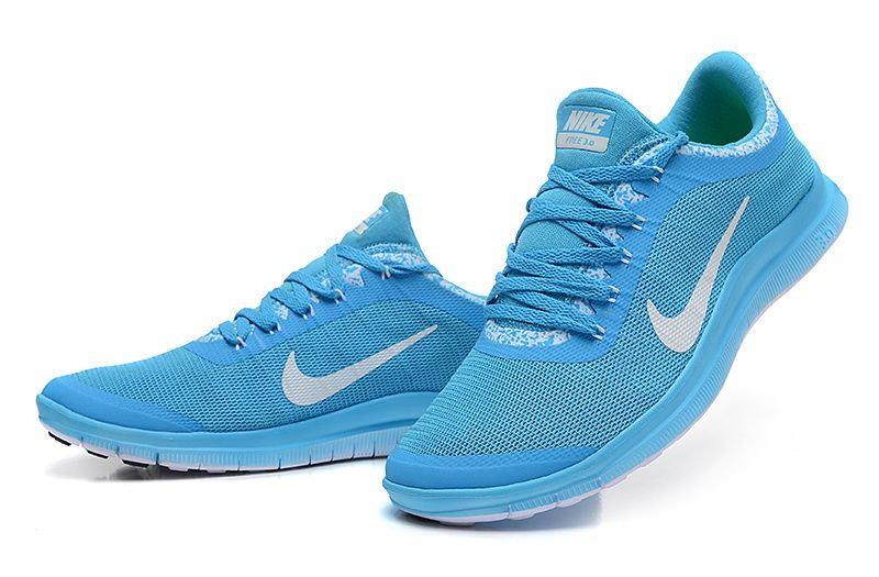 25babca820db Newest Mens Nike Free 3.0 V6 Sky-Blue White Shoes big discount ...