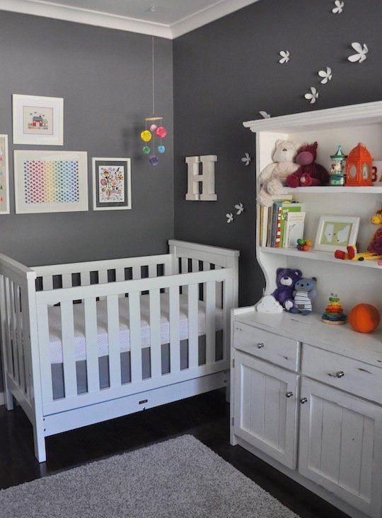 Harper S Contrasting Colorful Nursery Girl Nursery Room White Baby Furniture Girl Nursery Pink