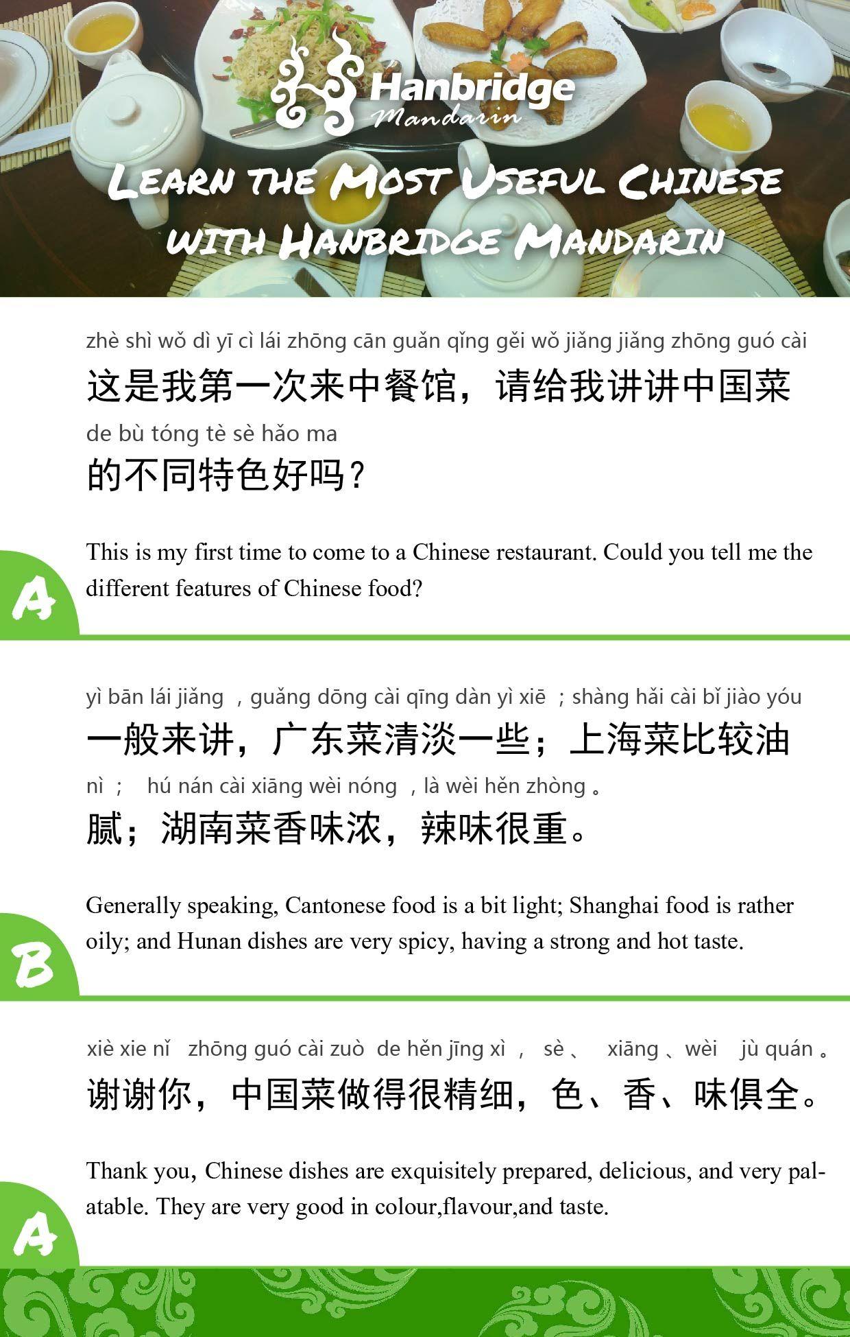 Do You Like Chinese Food Learn Chinese Mandarin Chinese Learn Mandarin