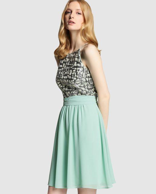 Vestido de lentejuelas verde agua