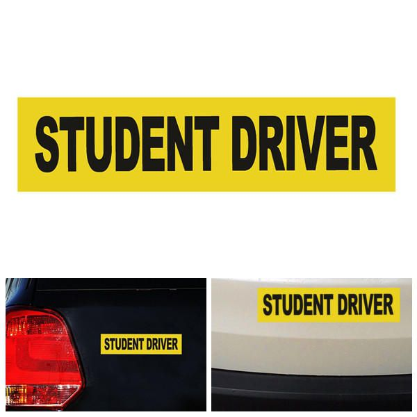 JDM POWER Car Styling Sticker Bumper Decal Reflective Warning Stickers Safety