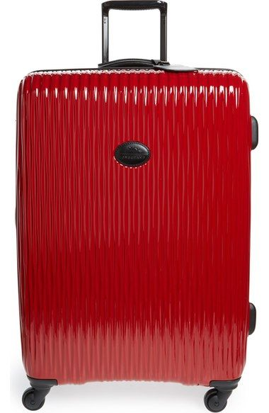 Large Fairval' Four-Wheel Hard Shell Suitcase | Longchamp and Shell