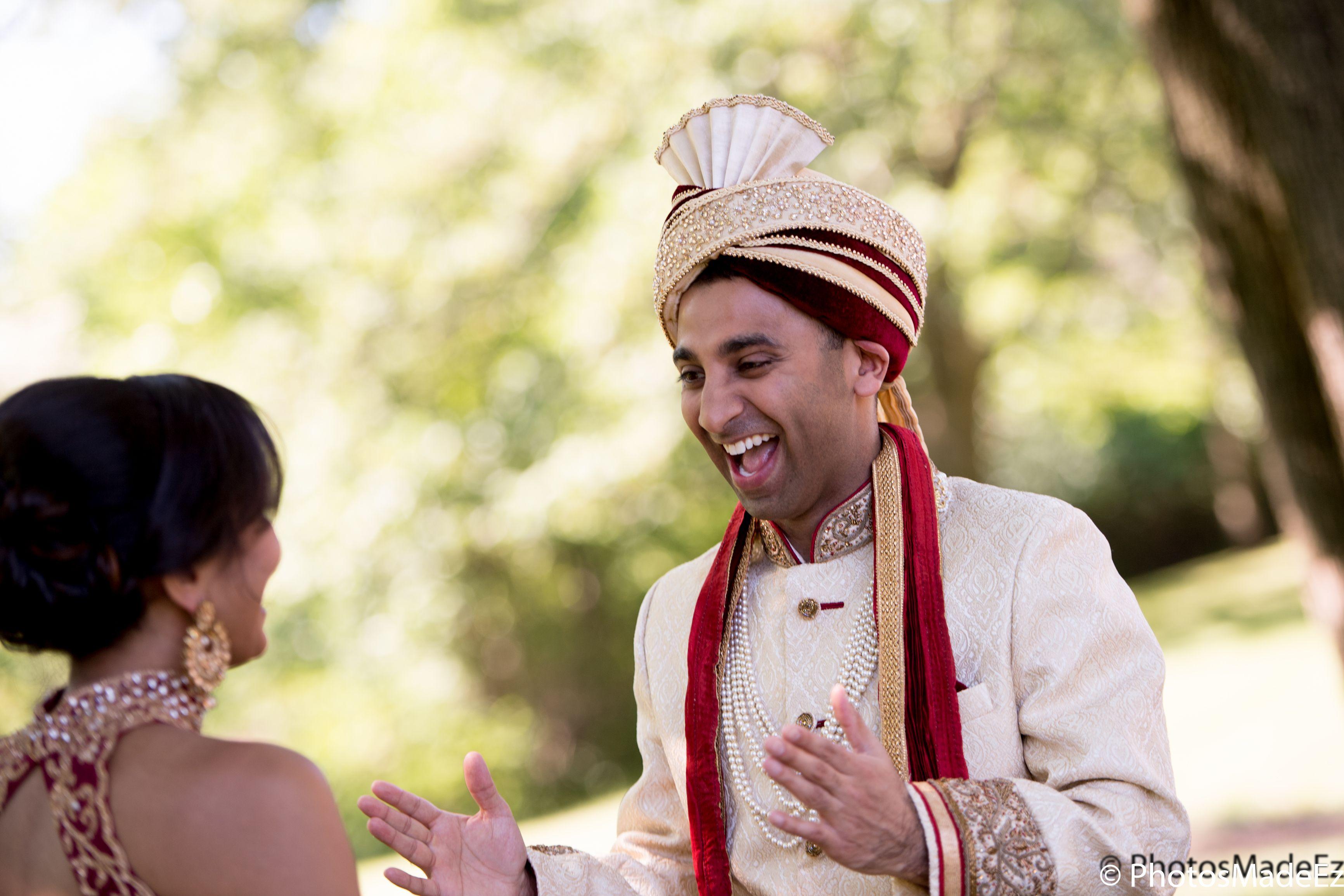 Punjabi Groom and Gujarati Bride in HIndu Wedding in New Jersey in