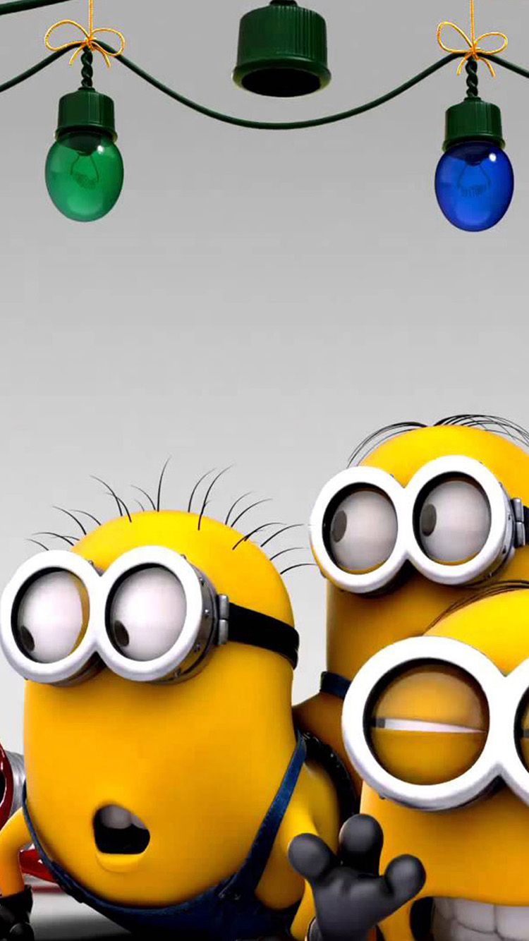 minions christmas party iphone android mobile wallpaper - http
