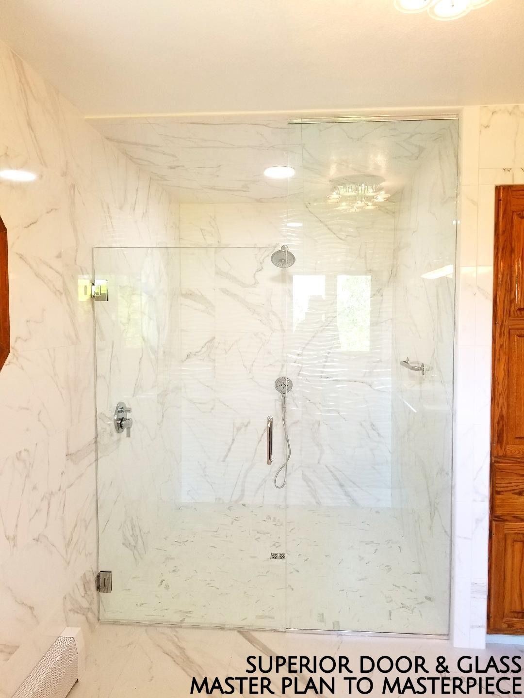 Superior Door Glass Master Plan To Masterpiece White Marble And