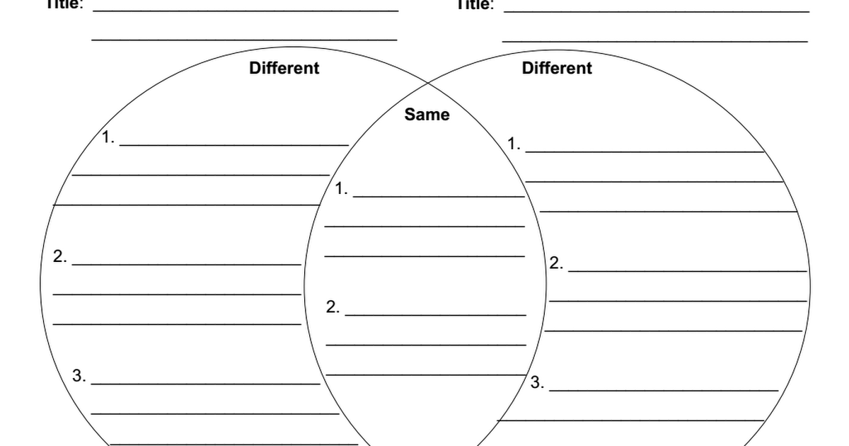 Venn Diagram With Lines Pdf