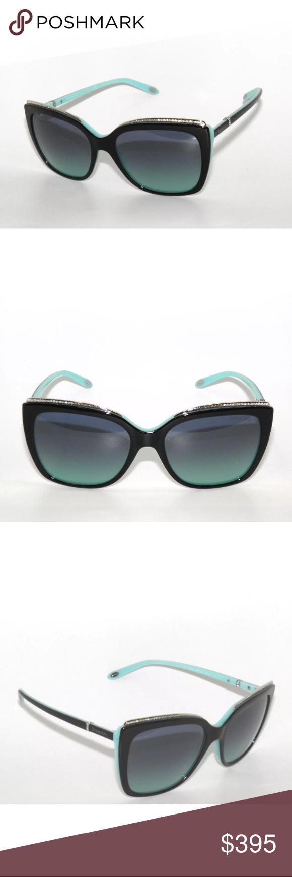 df939e4da9fd Tiffany   Co Sunglasses 4135 Black and blue Brand new Comes with authentic  Tiffany case