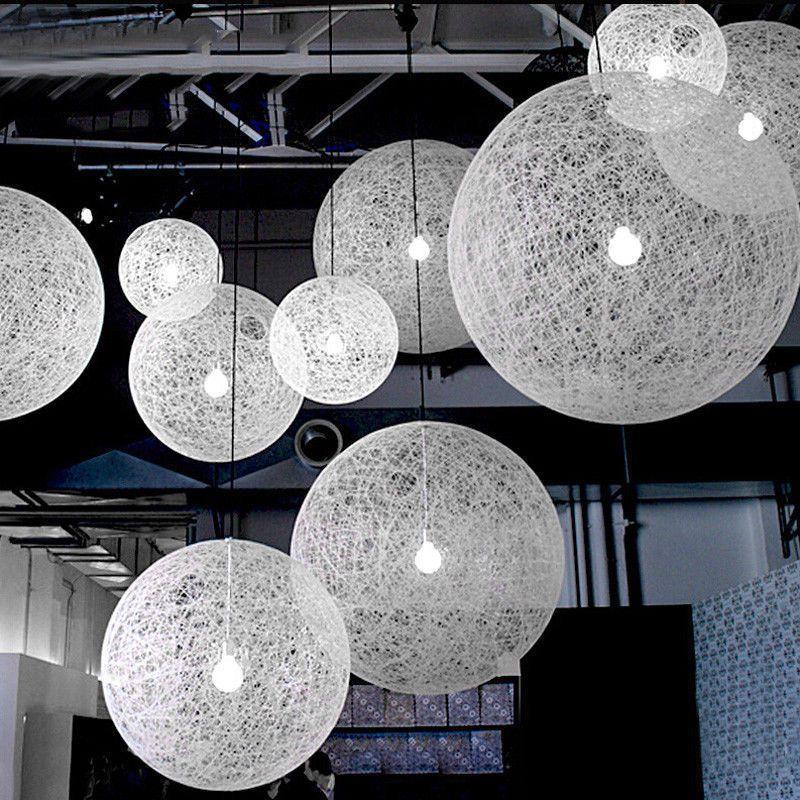 Natural Abaca Rattan Ball Pendant Light Shade Chandelier ...
