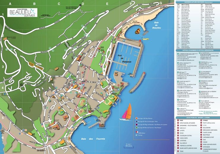 BeaulieusurMer tourist map Maps Pinterest Tourist map