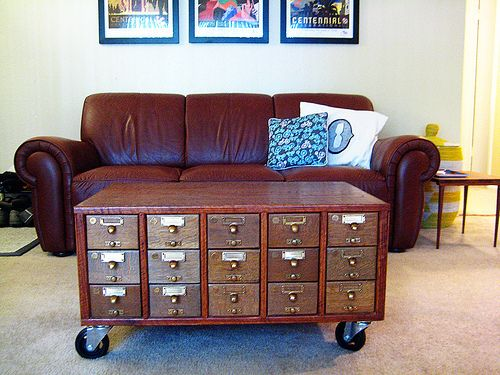 Vintage Library Card Catalogs Transformed Into Awesome Furniture