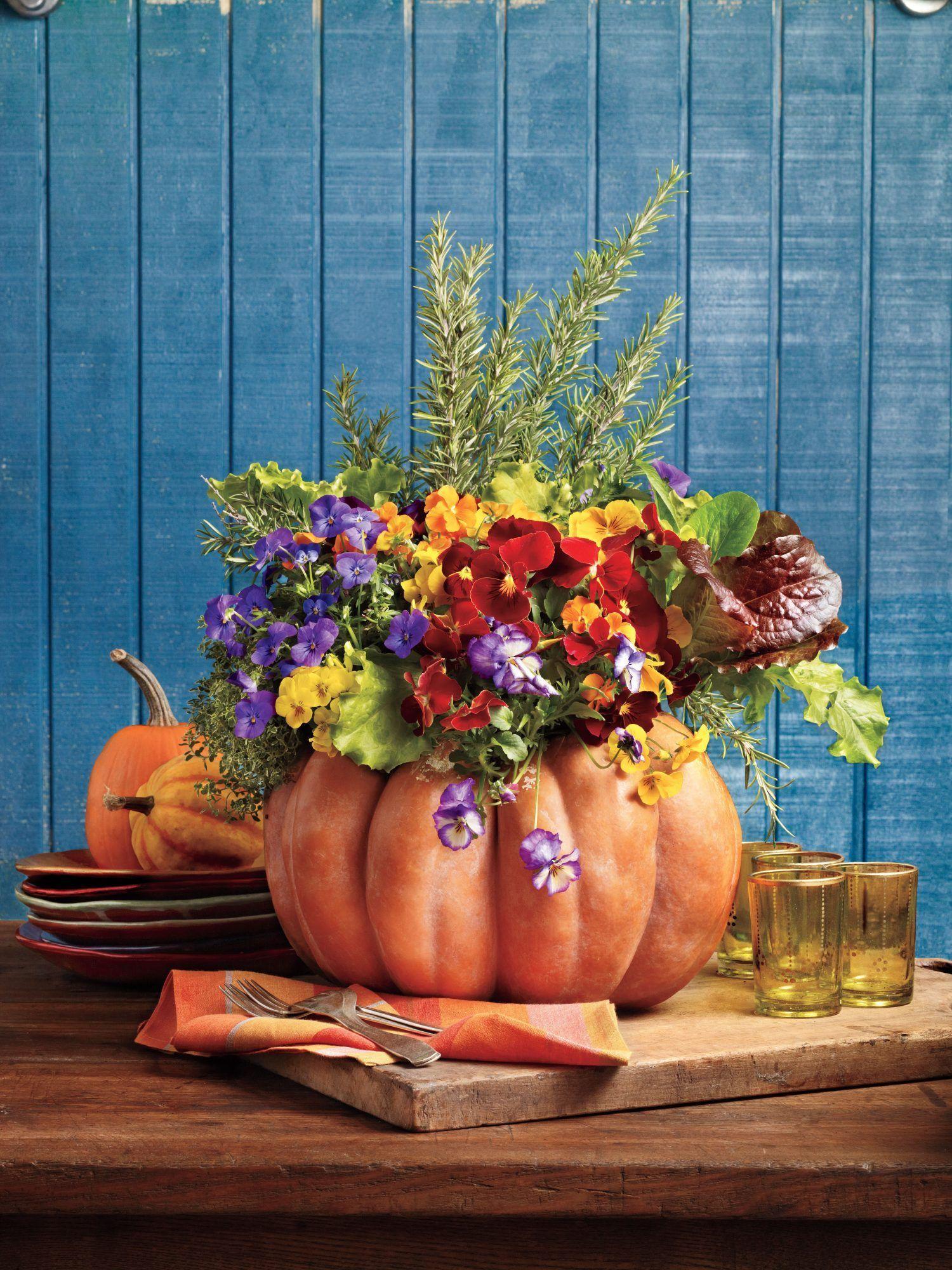 Autumn Centerpieces To Complete Your Fall Feast Creative Pumpkin Decorating Fall Outdoor Decor Pumpkin Decorating