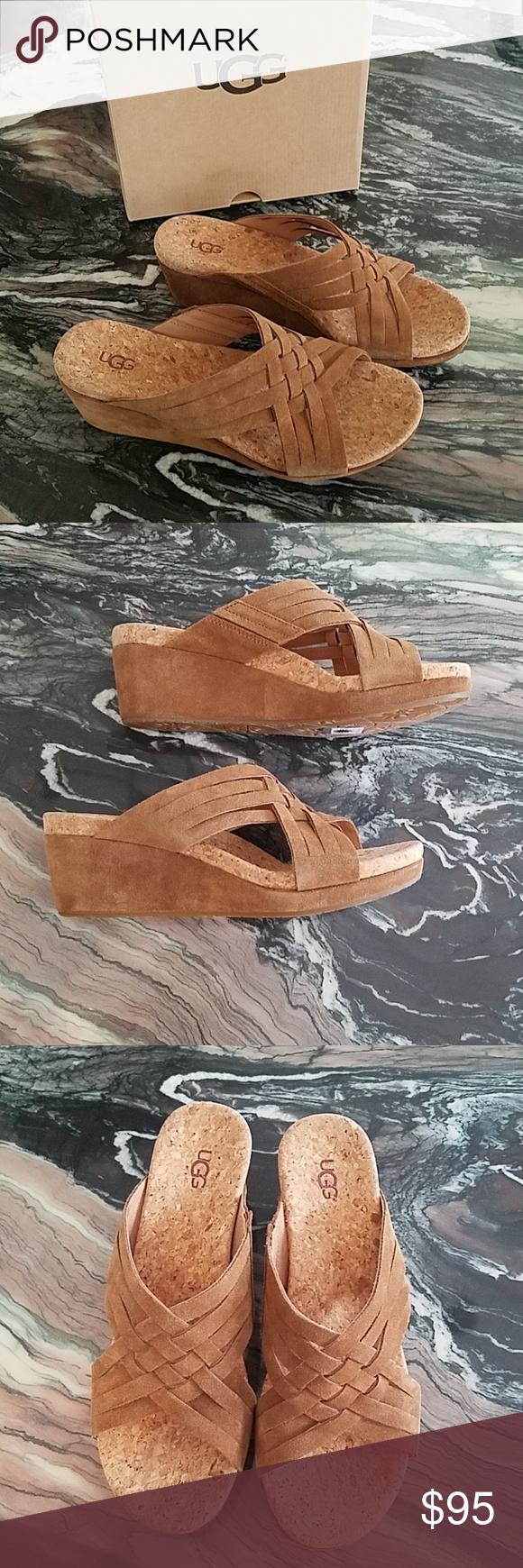 133e9fb5cf UGG Lilah Chestnut Wedge Sandals New in Box! UGG Lilah Chestnut Wedge  Sandals For a