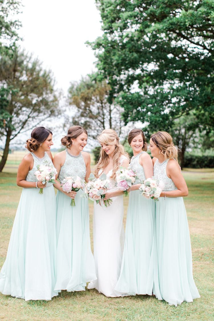 Mint Green Bridesmaid Dresses Long Maxi Pastels Gold Pretty Summer Barn Wedding Http