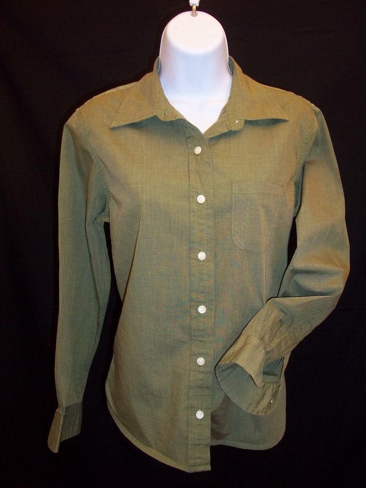 Gap Women's Shirt Green Button Down Long Sleeve Size S