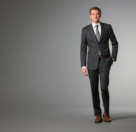 J Hilburn Personalized Jackets Grey Pinstripe Suit Grey Suit Brown Shoes Wedding Suits Men