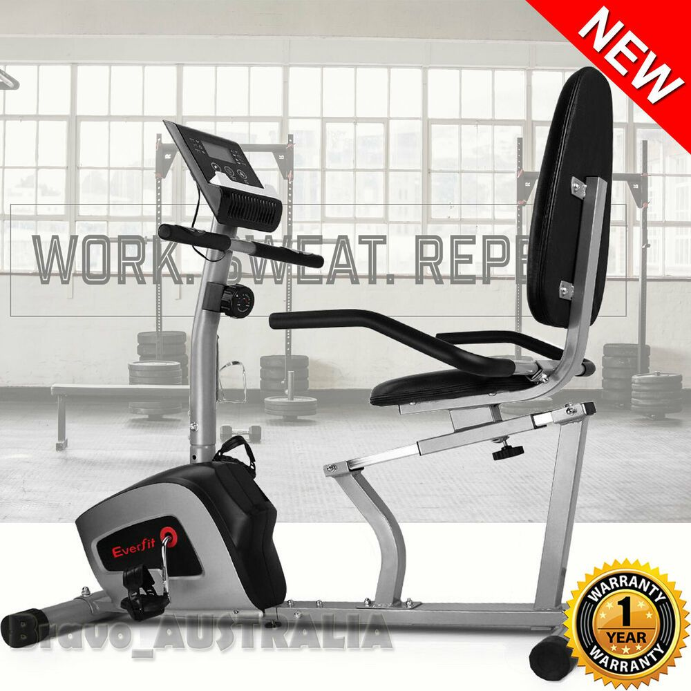 Magnetic Recumbent Exercise Bike Seated Bicycle Home Fitness