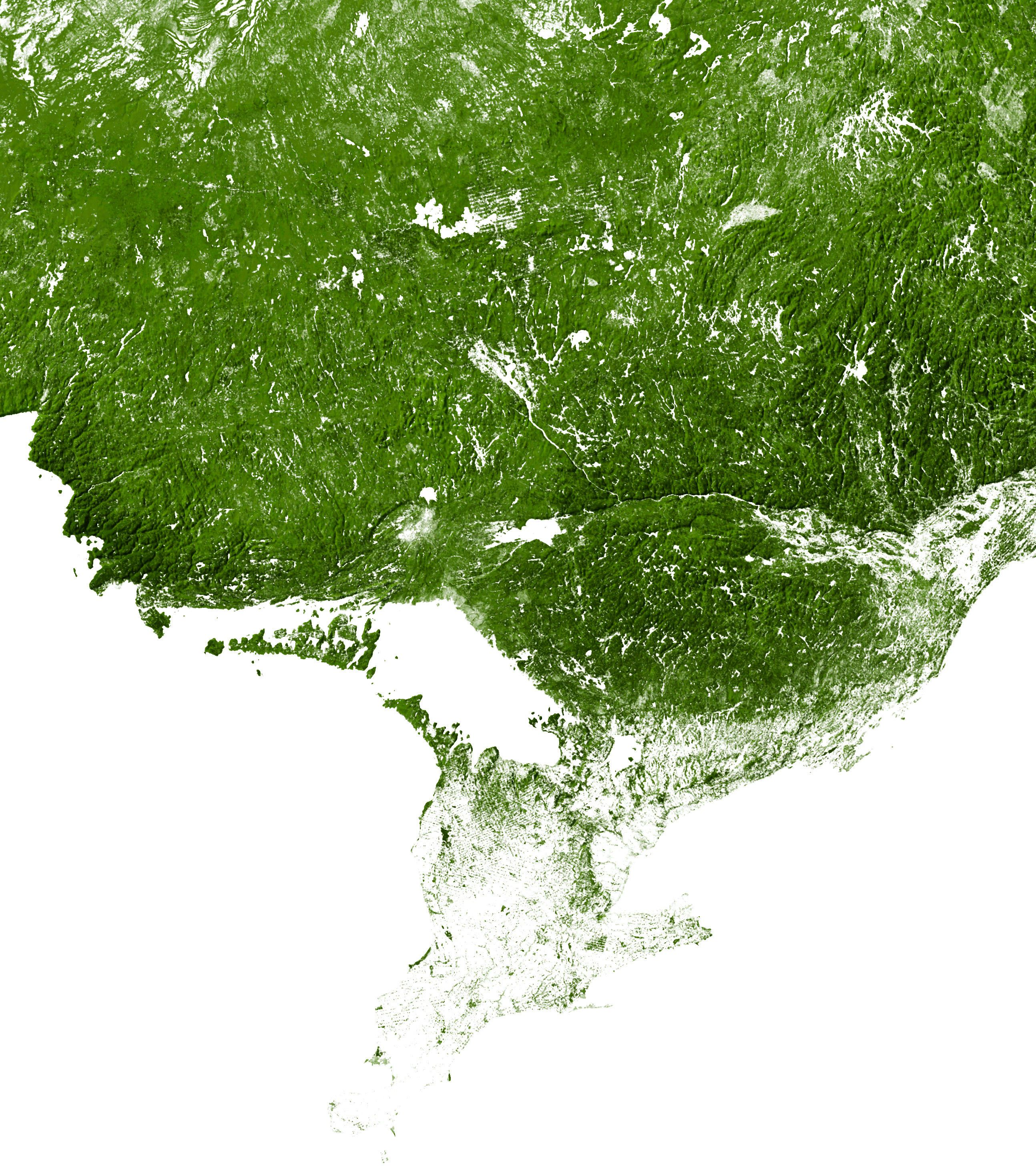 Southern Ontario and the surrounding area mapped