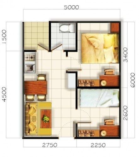 Desain Rumah Minimalis Type 36 72 Dan Denah 2015 Denah Rumah Rumah Minimalis Desain Interior
