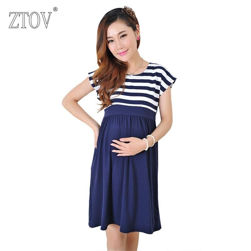0958935706b7c ZTOV Women Long Dresses Maternity Nursing Dress for Pregnant Women  Pregnancy Women's dress Clothing Mother Home Clothes L/XL/XXL
