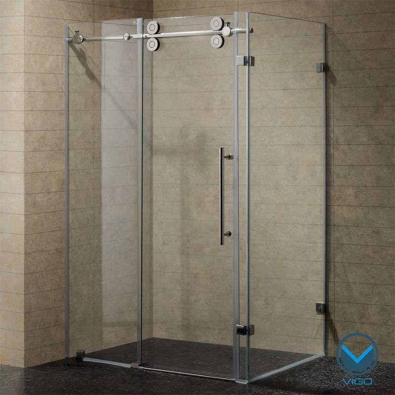 Vigo Vg605148 Shower Sliding Glass Door Glass Shower Shower