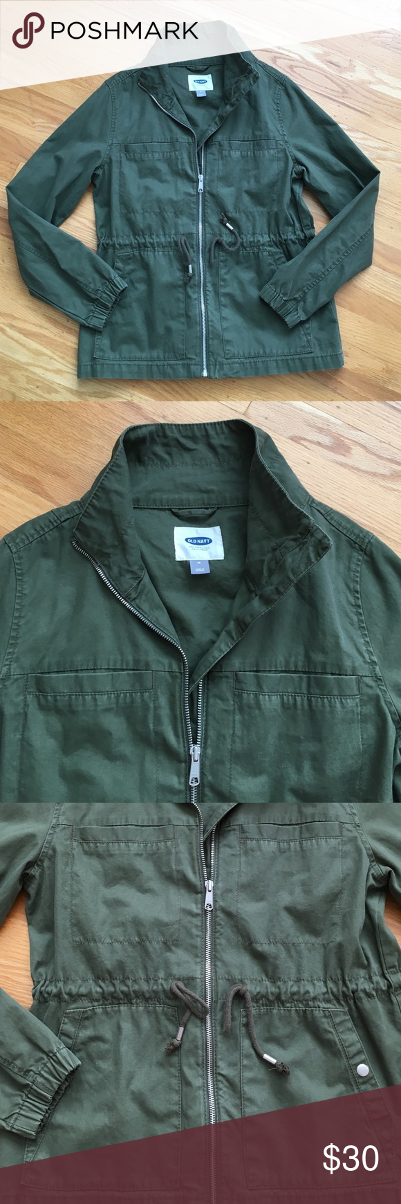 Old Navy Green Jacket Old Navy surplus jacket, green, medium, excellent condition Old Navy Jackets & Coats