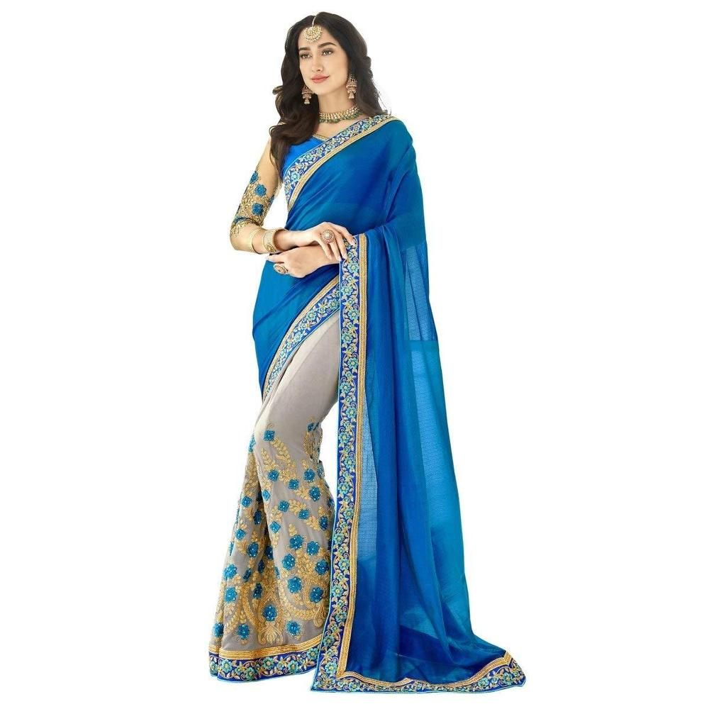 Saree for women wedding indian women wedding designer saree ethnic embroidered georgette