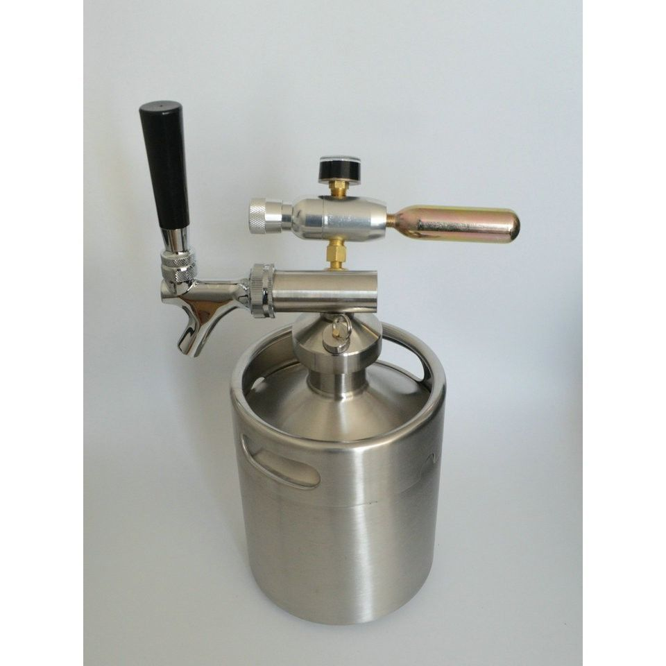 Beverage Spear With Tap Faucet 2L/64oz Keg Coupler/Growler Spears ...