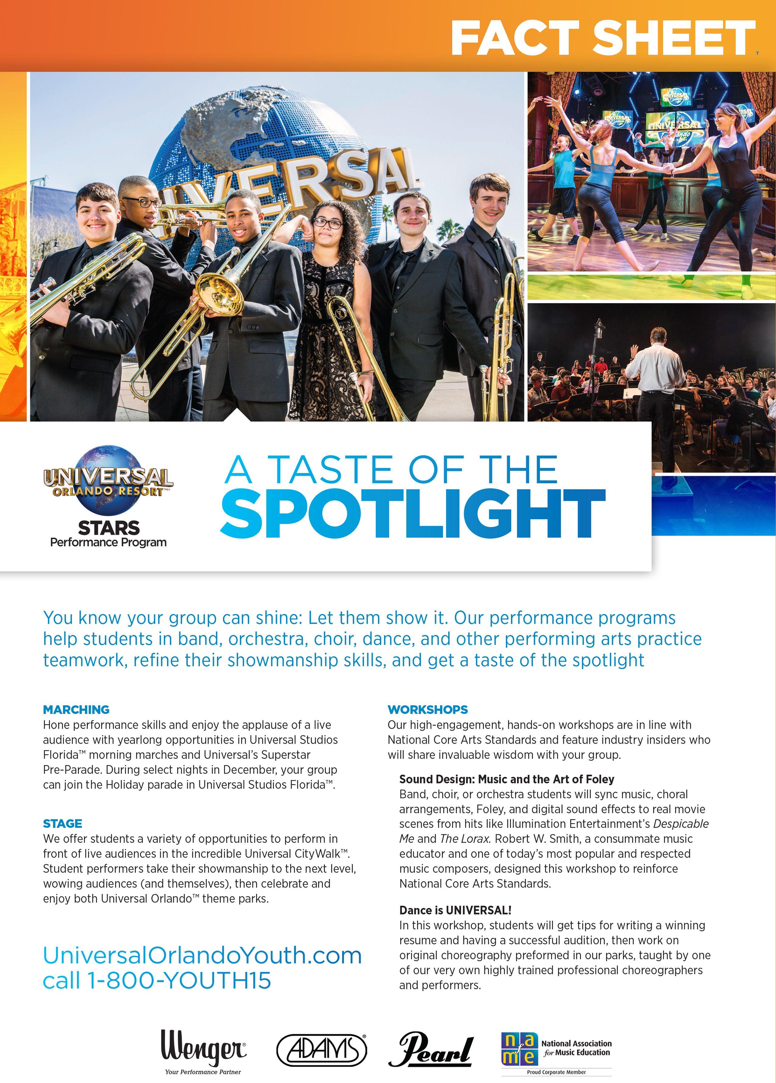 Universal Orlando Resort STARS Performance Program Fact Sheet. If ...