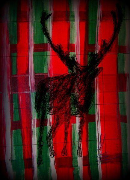 'Christmas Rendeer plaid - Weihnachten Rentier kariert modern' von Marion Waschk bei artflakes.com als Poster oder Kunstdruck $16.63