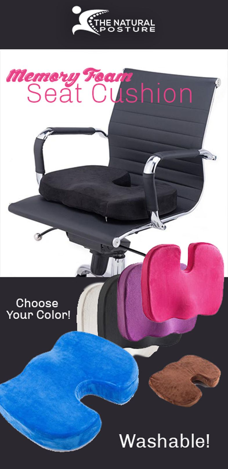 Memory Foam Seat Cushion Washable (With images) Memory