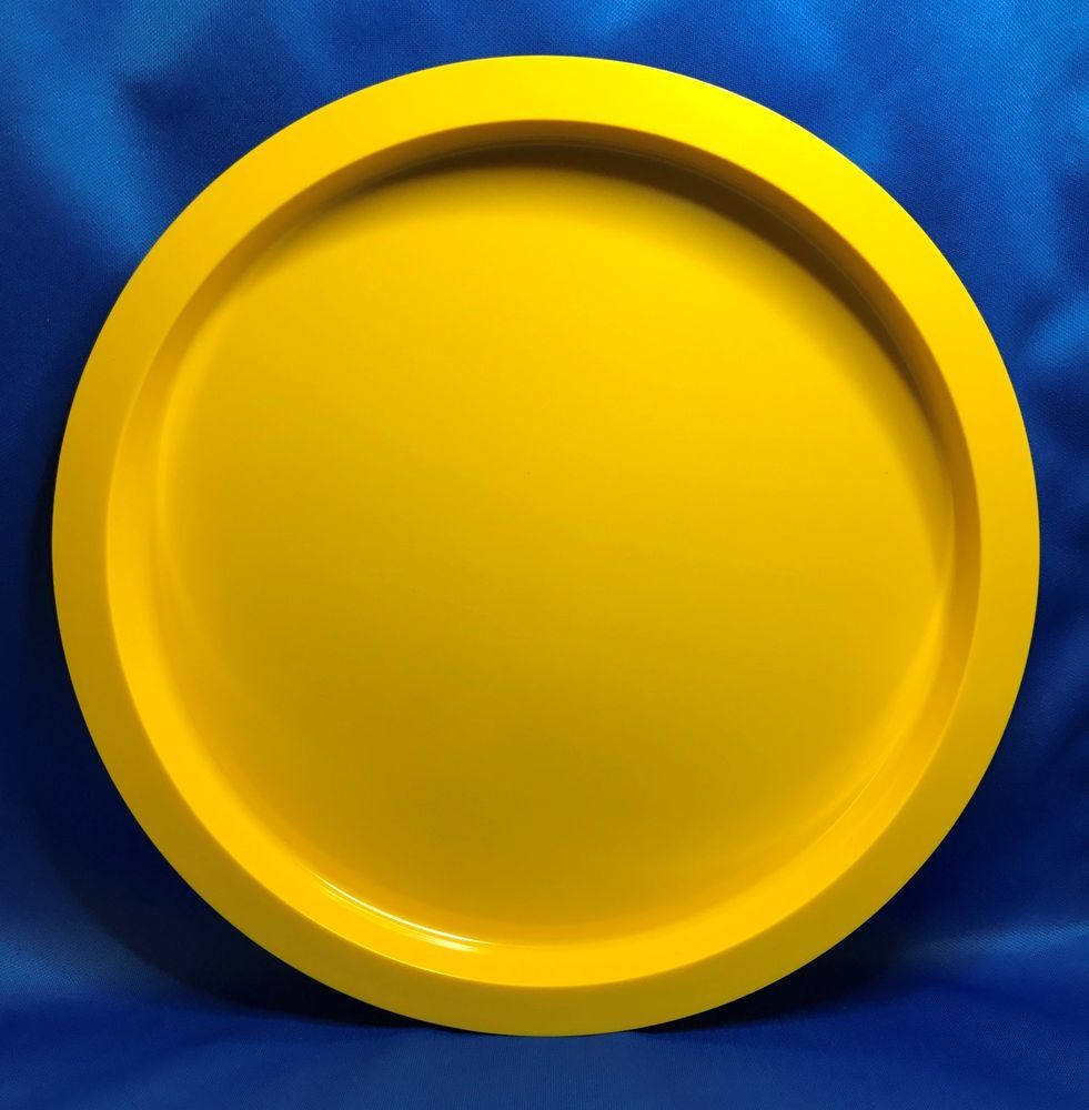 Vintage Dansk Gunnar Cyren Yellow Melamine Stackable 10 3/4\  Dinner Plate & Vintage Dansk Gunnar Cyren Yellow Melamine Stackable 10 3/4\