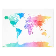 Image Result For World Map Tumblr Watercolour Water Colour