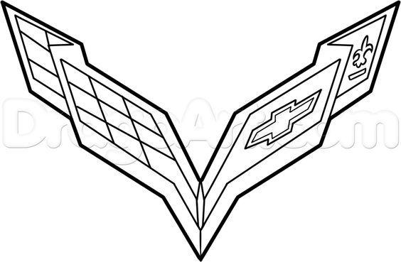 How To Draw The Corvette Logo Step 6