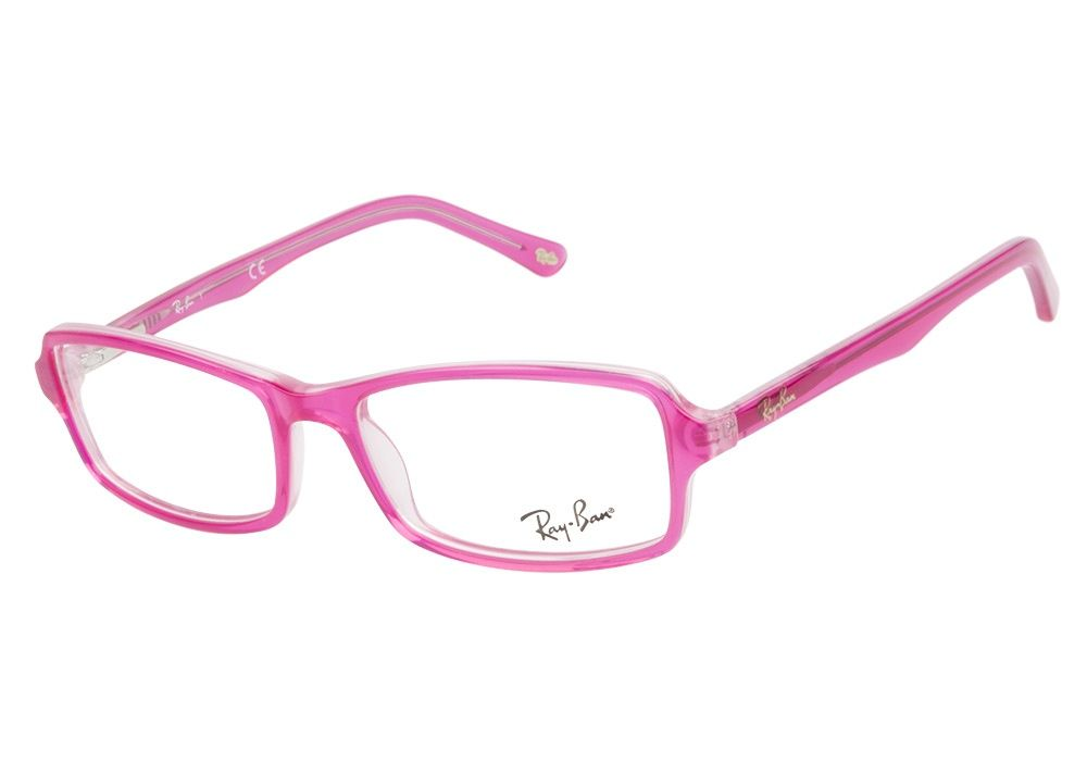 ban rb5191 2409 top fuchsia on pink eyeglasses are