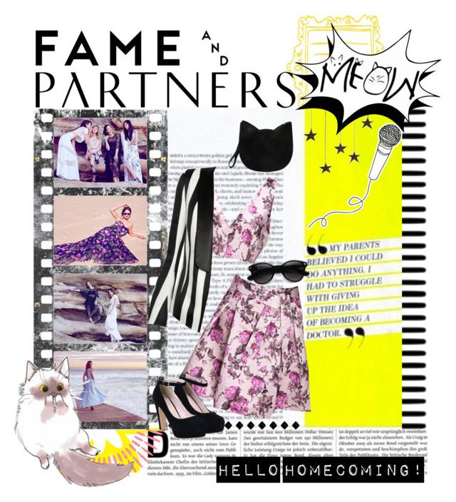 """""""Hello Homecoming with Fame & Partners: Contest Entry"""" by wuzzyswardrobe ❤ liked on Polyvore featuring Fame & Partners, Forever 21, Balmain and famebabe"""