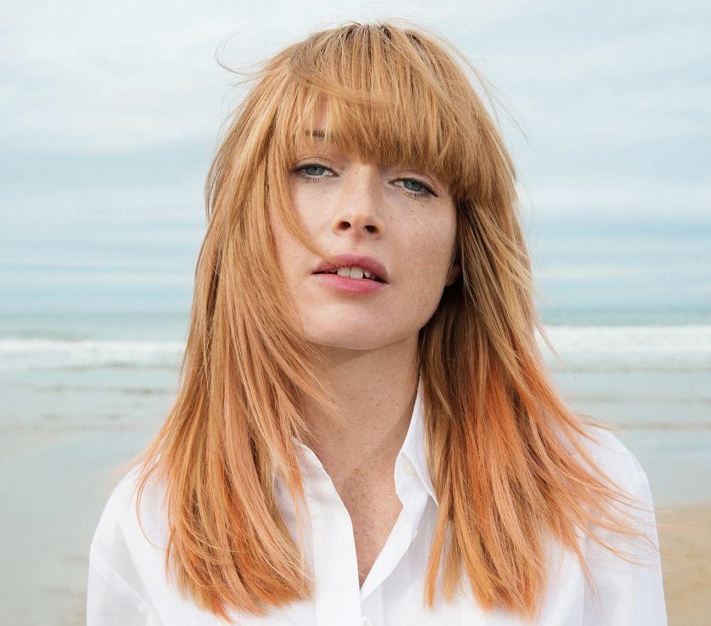 Tagli capelli rossi frangia