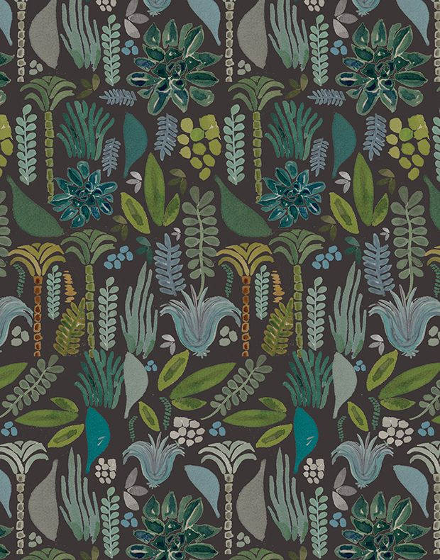 Justina's Jungalow Prints | print & pattern | Pinterest | Papel mural, Murales and Textiles