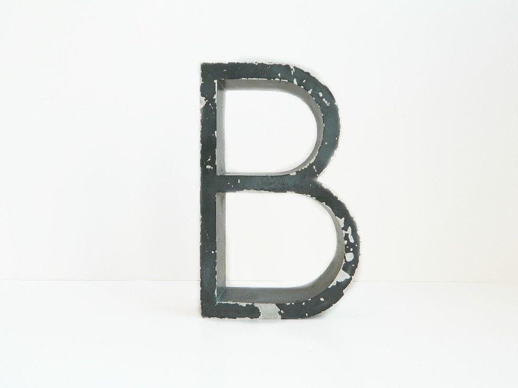 Large Black Metal Letters Large Black Metal Sign Letter B  Sign Letters
