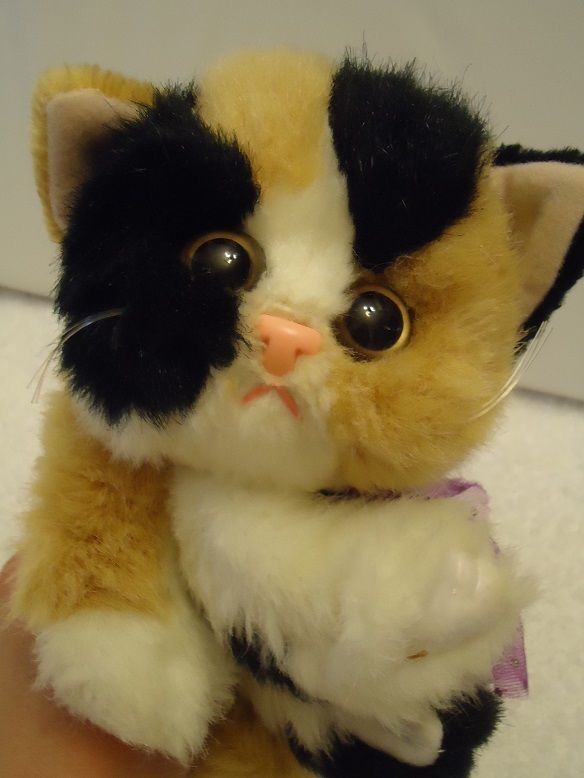 Rare 1992 Tyco Kitty Kitty Kitten Purr Plush Stuffed Animal Calico