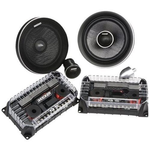 KICKER - 6-3/4 2-Way Car Speakers with Carbon / Polypropylene Hybrid Cones (Pair) - Black #componentspeakers