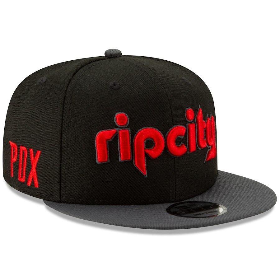 the best attitude 0586e d5c9c Portland Trail Blazers New Era 2018 City Edition On-Court 9FIFTY Snapback  Adjustable Hat – Black