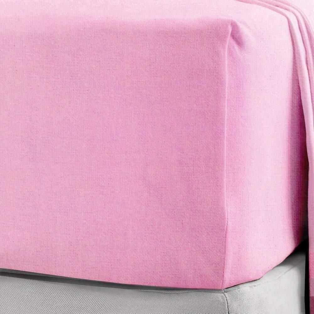 FLANNELETTE FITTED SHEET 100/% Brushed Cotton Thermal Bed Sheets Super Soft