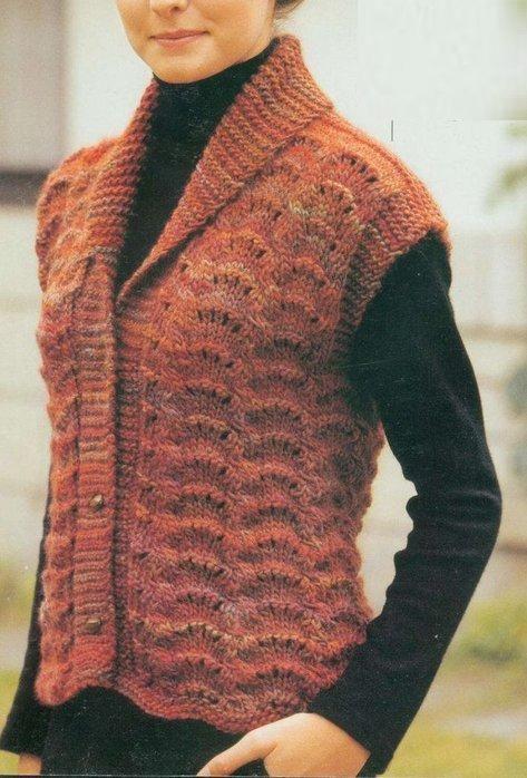 Bayan Örgü Yelek Modelleri 2015 Örnekleri (24) Hand Knitted Sweaters 143041e5db59