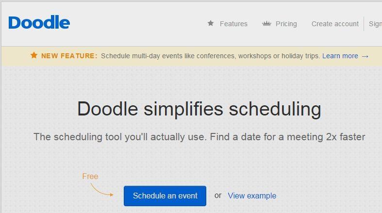 Doodle Easy Scheduling Scheduling Tools Met Online Computer Help