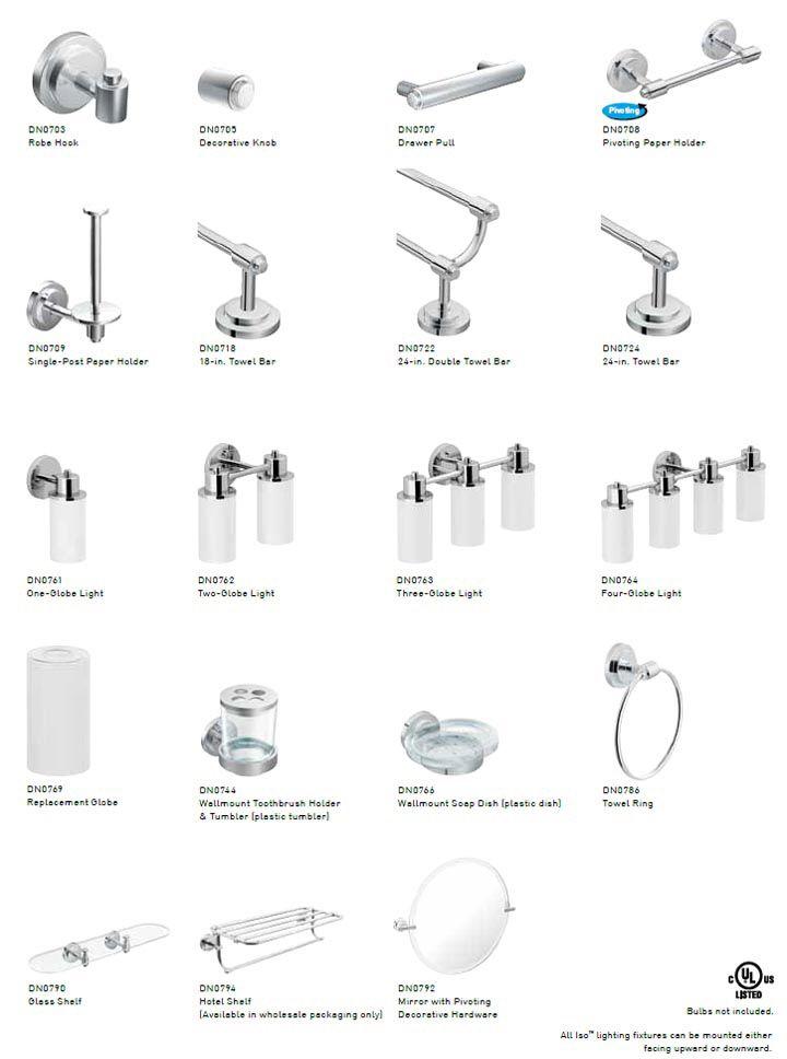 Moen Iso Bathroom Accessories Lighting Towel