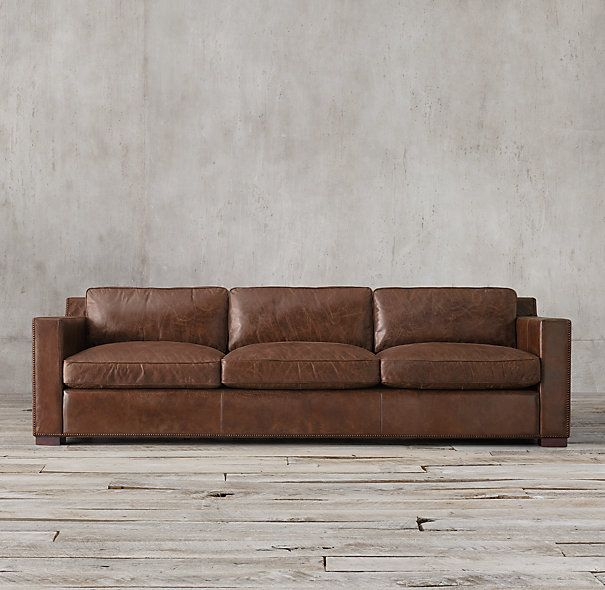 Collins Leather Sofa 7 Or 8 Feet 39 In Deep Restoration