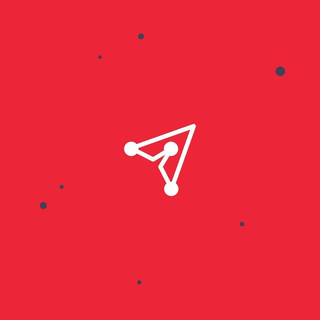Tekkos brand icon. #logo #icon #vector #red #color #tech #dots ...